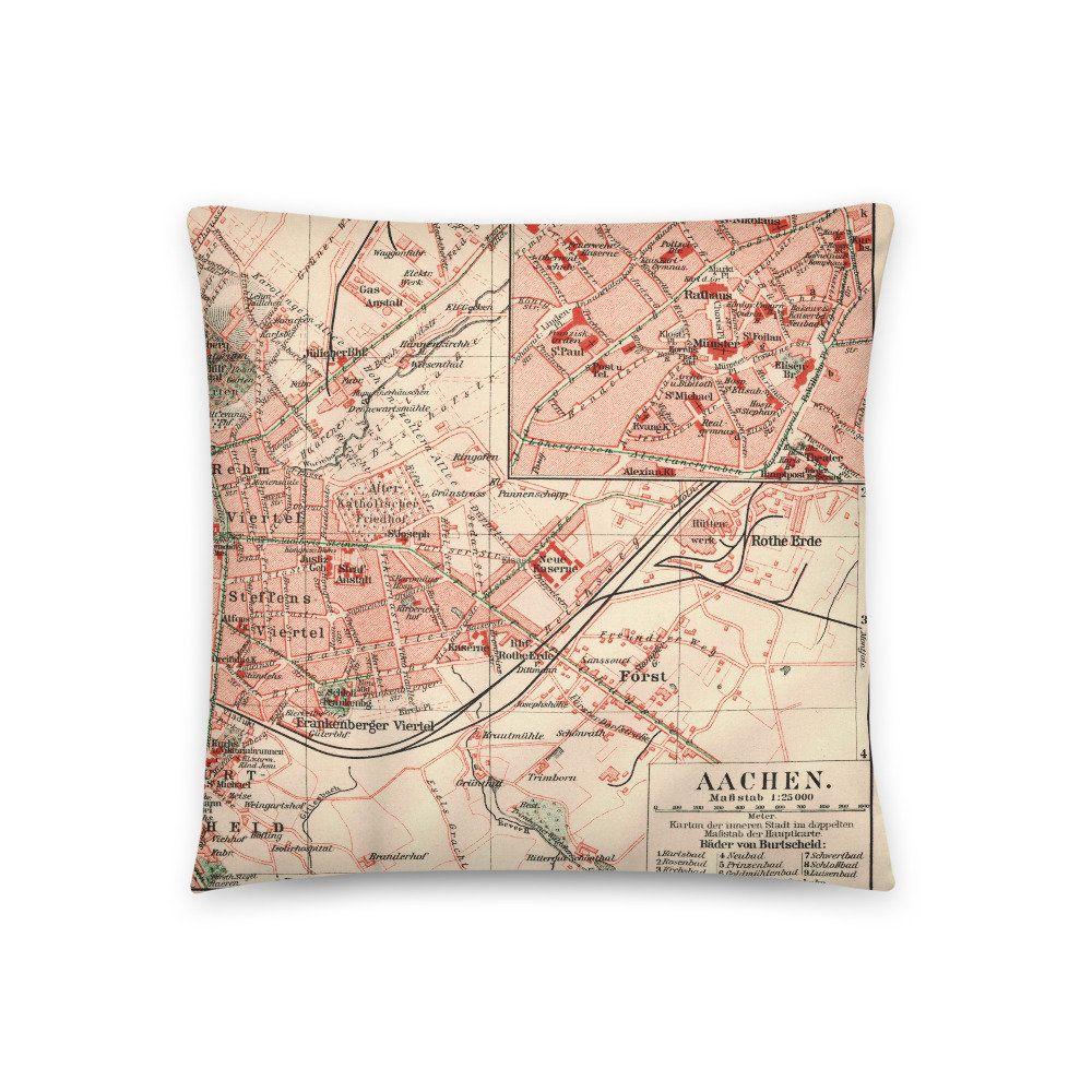 Aachen um 20 Deko Kissen mit historischem Stadtplan   Etsy ...