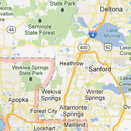 Orange County Florida Map.A Map Of Orange County Florida Practicum 4 Marketing References