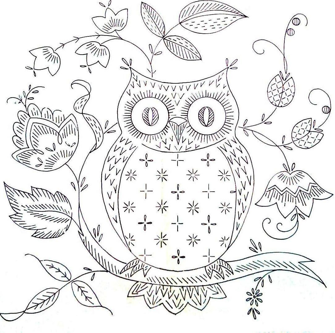 Pin von Christy Hunter auf coloring pages   Pinterest   Eule ...