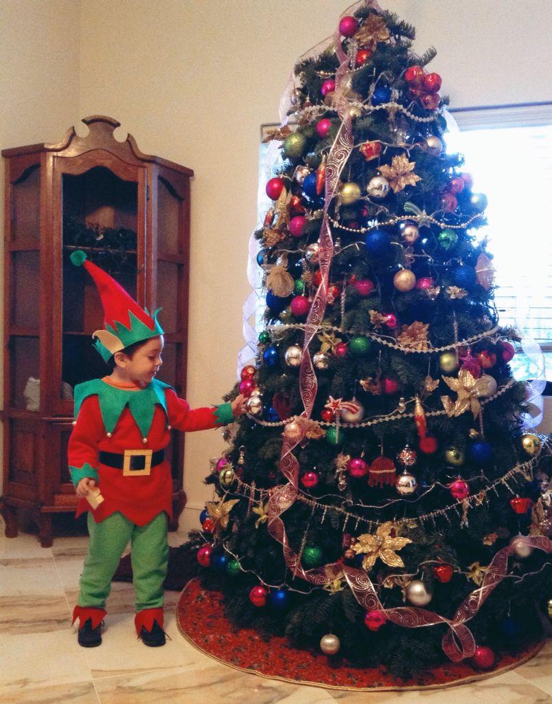 Disfraz de duende ayudante de santa Navidad 2014