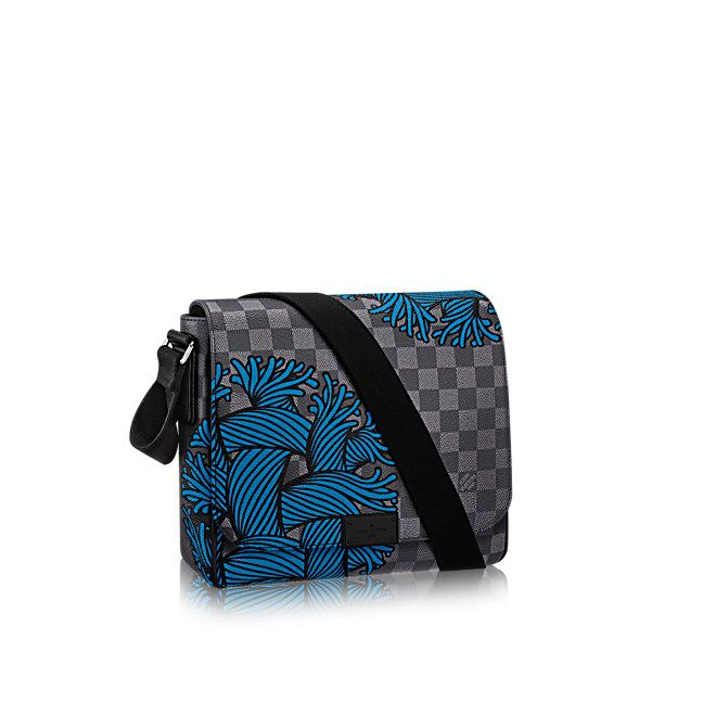 District Pm Toile Damier Graphite In Homme S Sacs Hommes Collections By Louis Vuitton Shoulder Bag Women Canvas Leather Bag Vuitton Bag