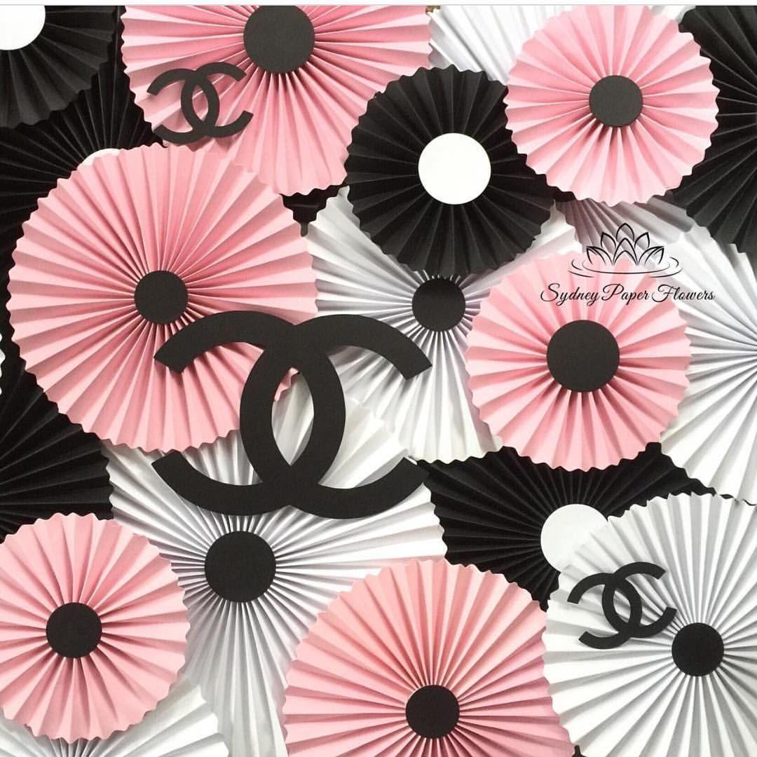 paper flower backdrop template