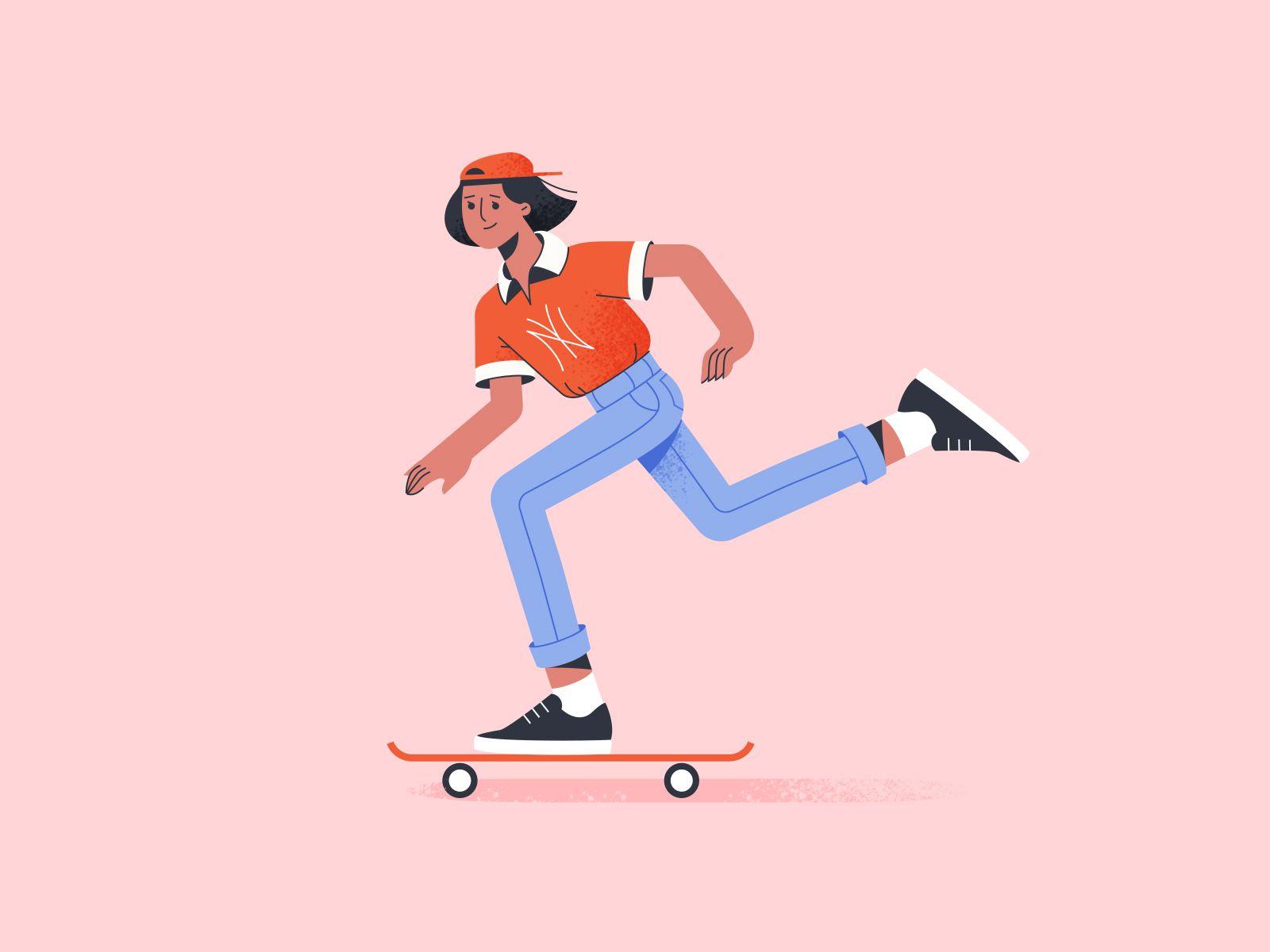 A Skateboarding Girl In 2020 Skateboard Girl Skateboard Skater Girl Outfits