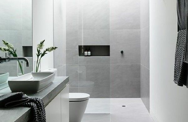 badezimmer fliesen dusche waschbeckenschrank Badezimmer Pinterest