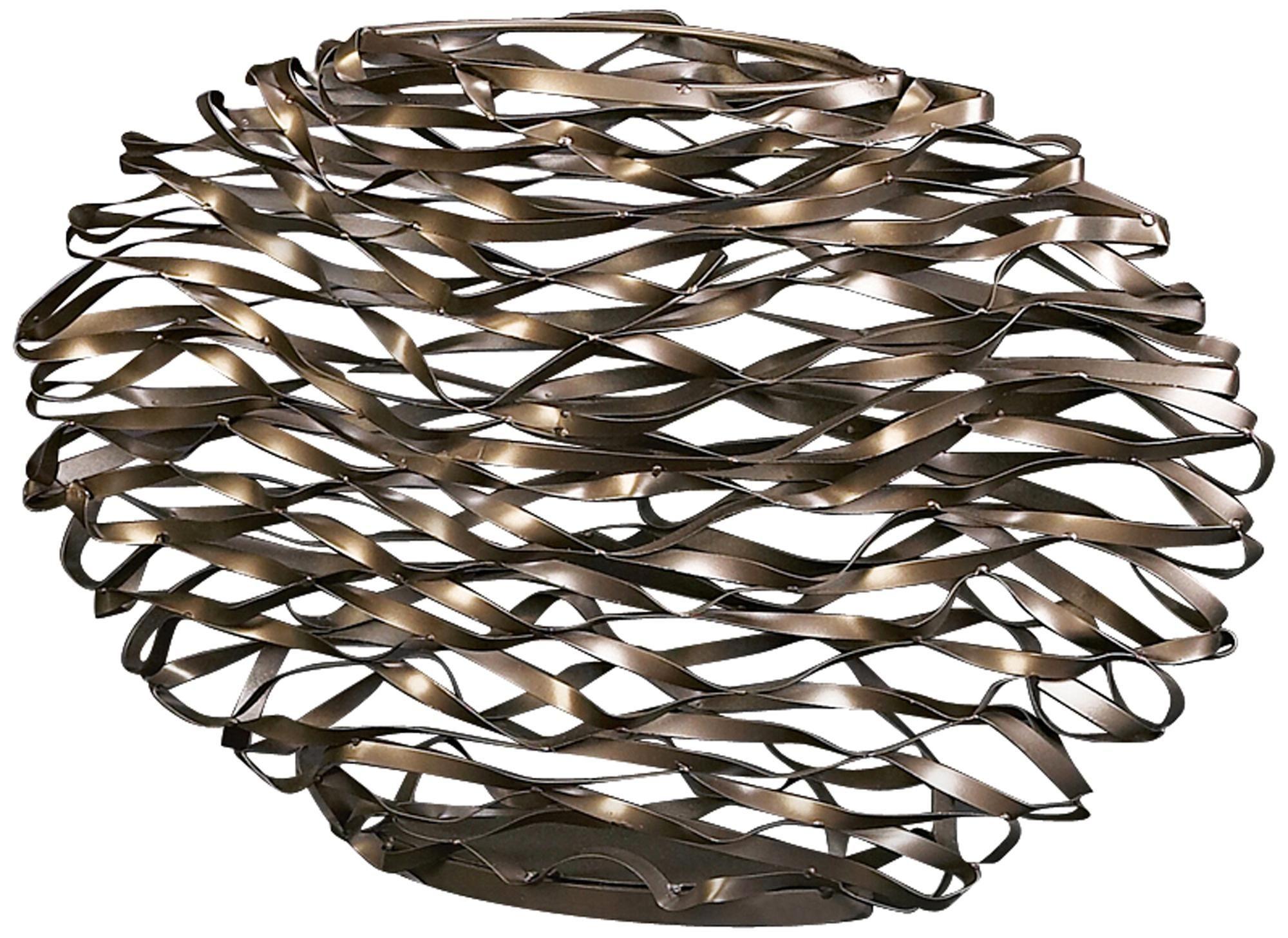 Brushed Titanium Bent Iron Vase -