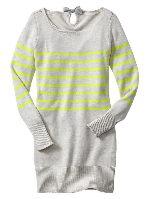 a8203419ba4 NWT GAP Kids Holiday Wonderland Gray Neon Stripe Sweater Tunic Dress ...