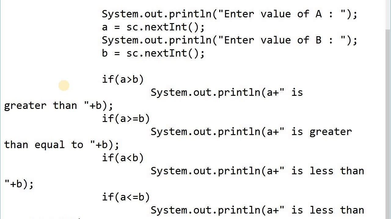 Programming In Java Operators Arithmetic Relational And Logical Ope In 2020 Arithmetic Logic Greater Than