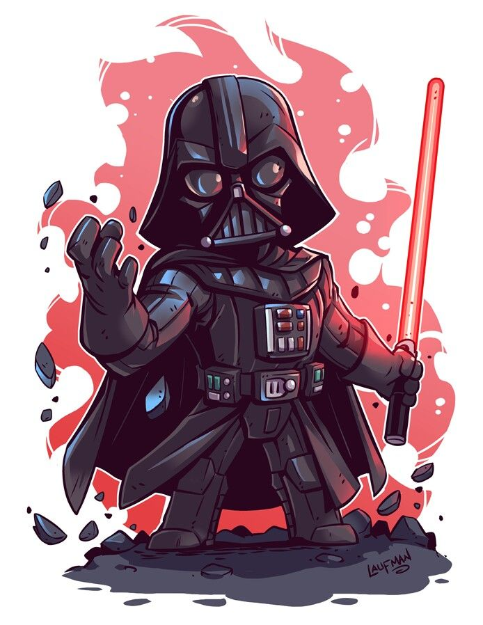 Darth Vader By Laufman Fondos De Pantalla Dessin Star