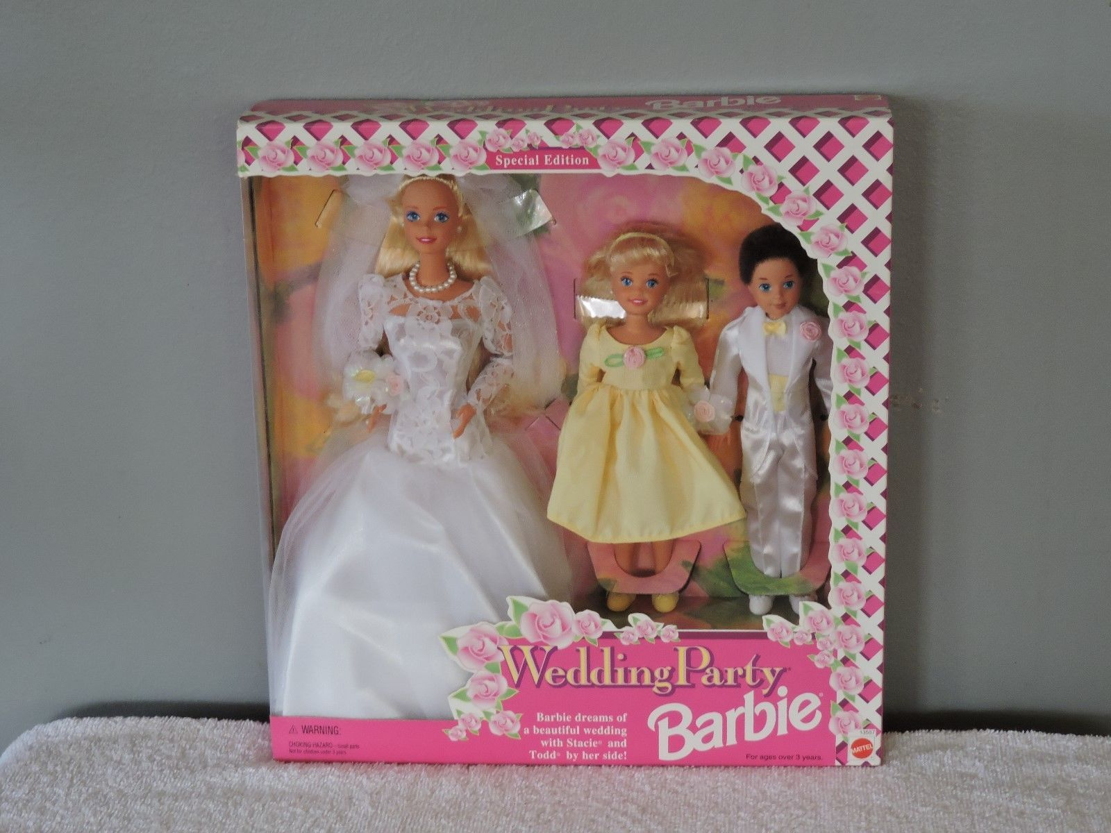1994 Barbie Wedding Party Giftset with Stacie & Todd Dolls
