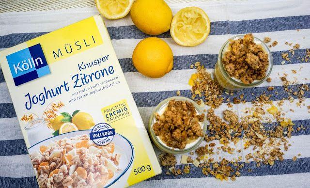 k lln m sli joghurt zitrone lemon curd dessert mit crumble blogger k lln pinterest. Black Bedroom Furniture Sets. Home Design Ideas
