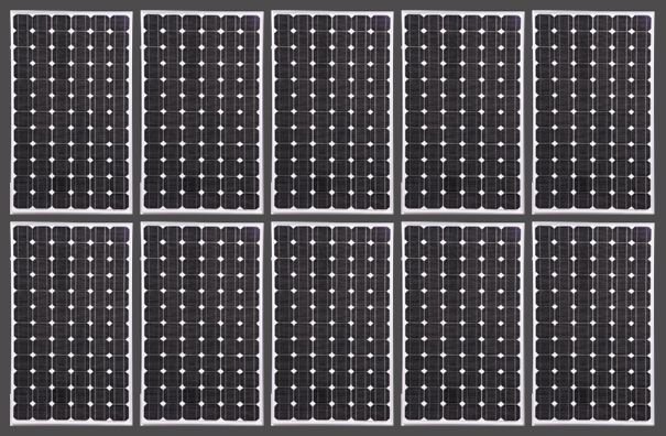 Adaptable image in printable solar panels