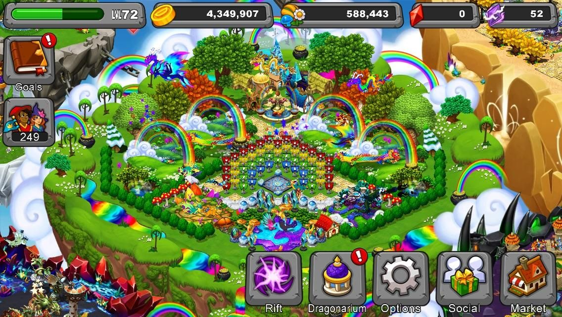 Image Result For Dragonvale Rainbow Island Rainbow Island Rainbow Rainbow Design