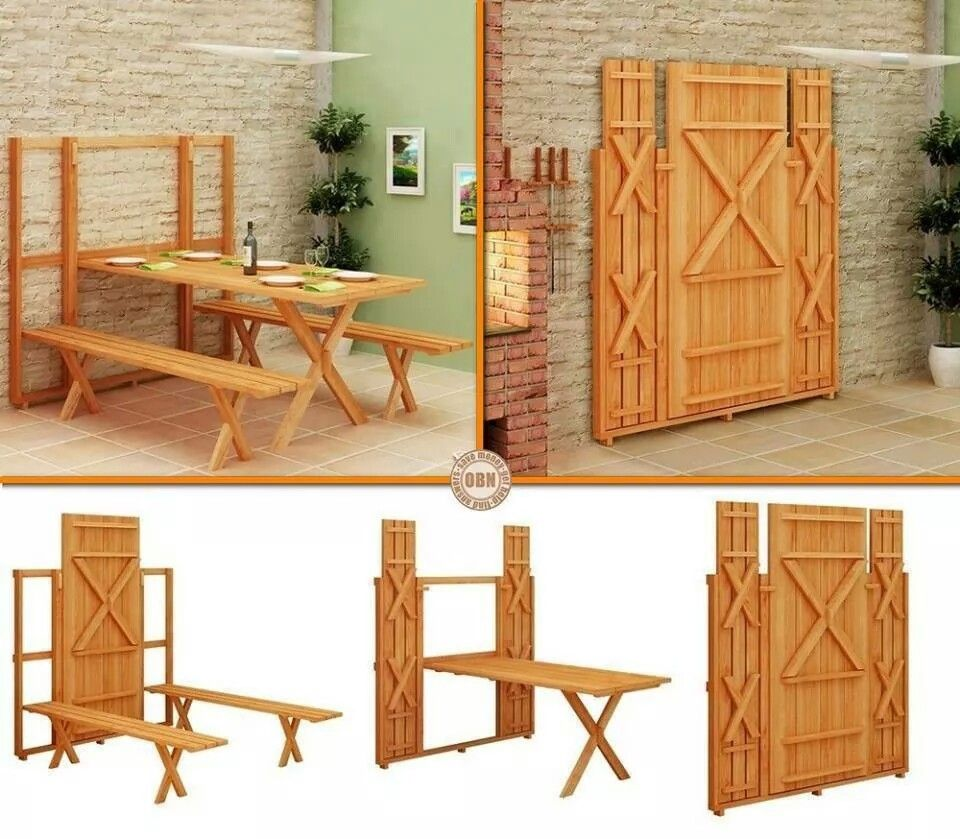 That is efn cool Fold up picnic table, Diy space saving