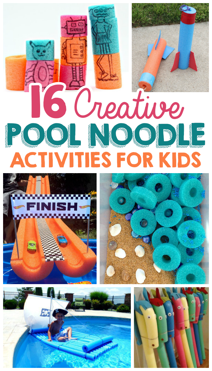 16 Creative Pool Noodle Activities For Kids Pool Noodles Noodle And Heart Art