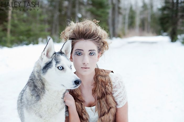 Maine fashion & beauty photographer. Snow Queen.