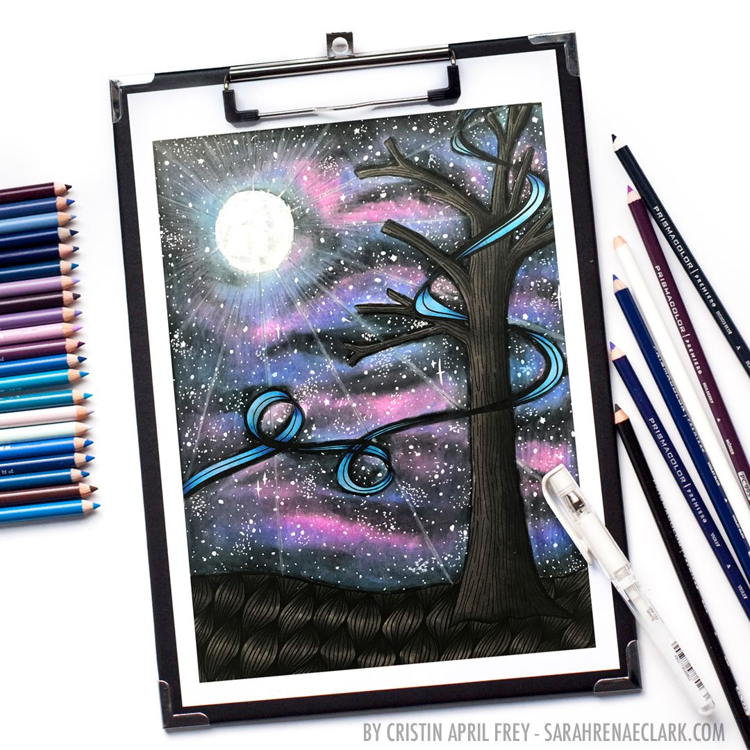 How to create a galaxy with colored pencils coloring galaxy