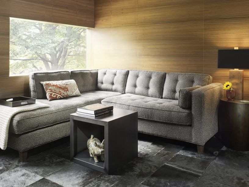 Modern Design of Small Living Room with Gray Sofa For the Home