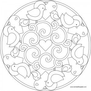 This page has a lot of free printable Spring mandala coloring page