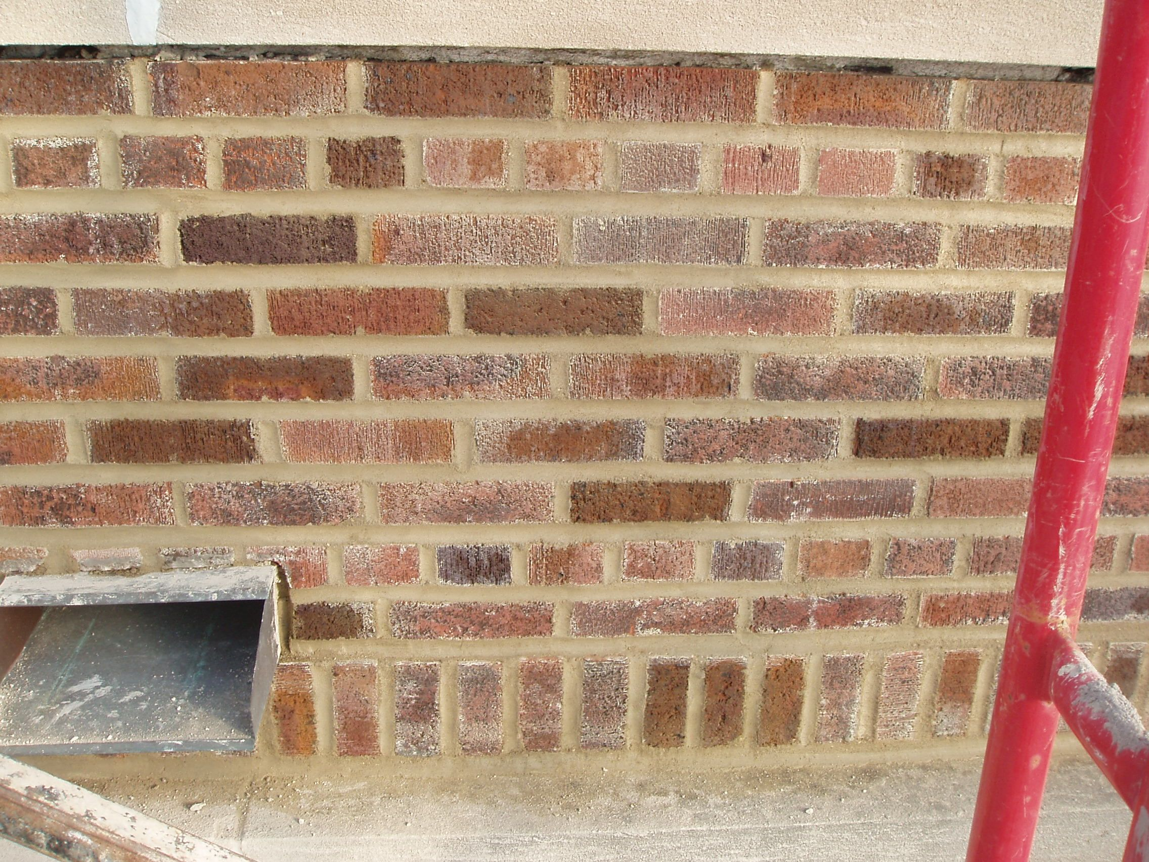 A Finished Restoration By Tuckpointing A Brick Wall Brick Stone Concrete Steps Concrete Floors