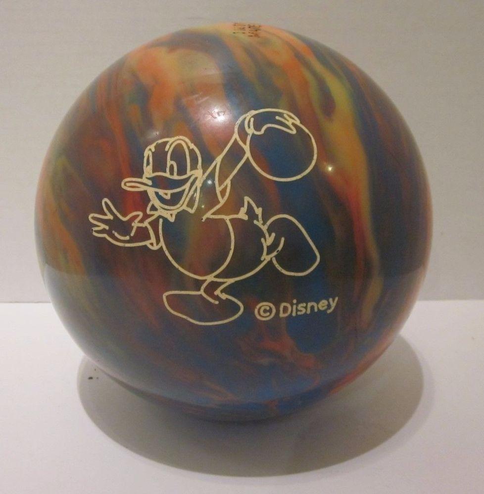 Disney Undrilled Donald Duck Brunswick Cosmic Bowling Ball