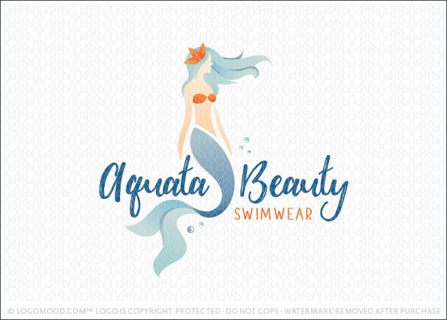 aqua beauty pinterest mermaid logos and watercolor logo