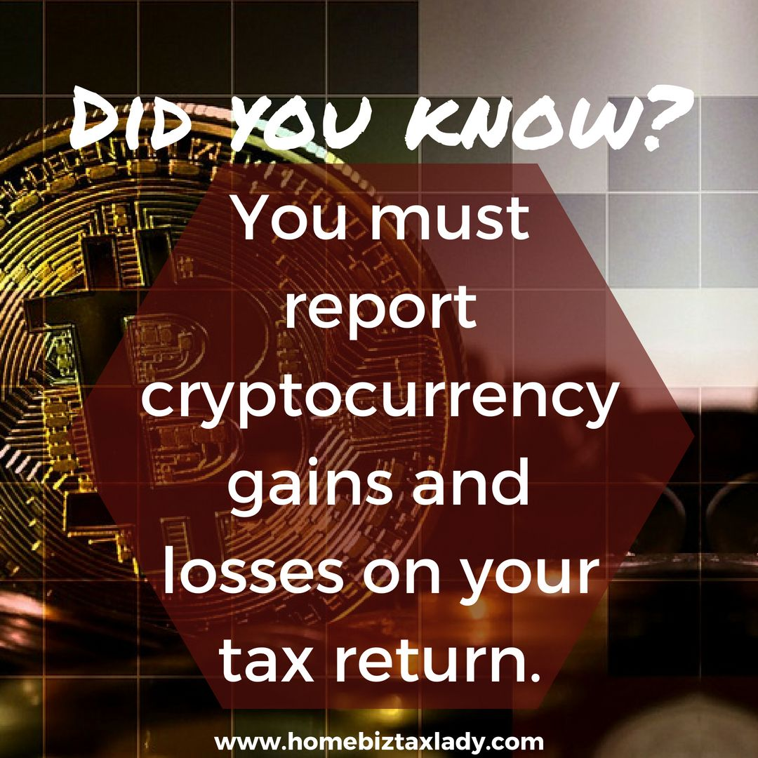 when to report cryptocurrency gains