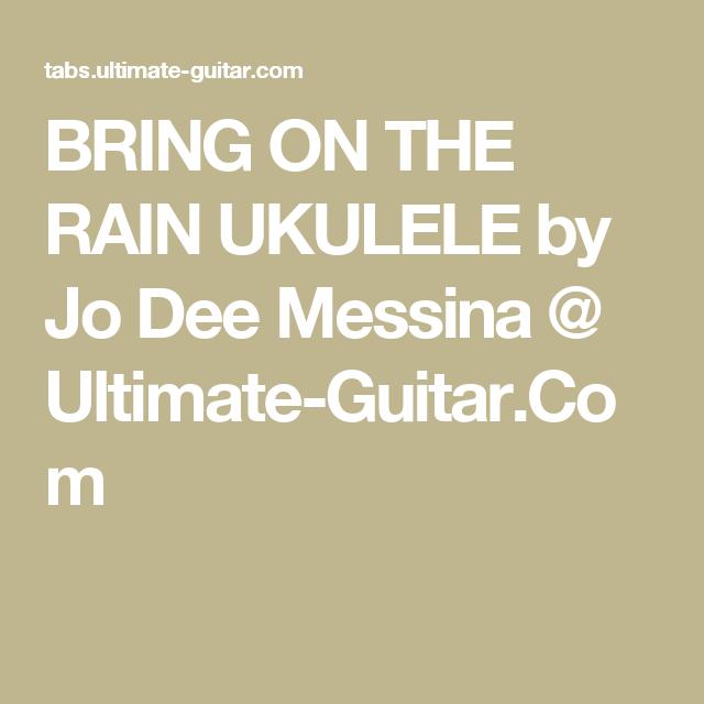 BRING ON THE RAIN UKULELE By Jo Dee Messina @ Ultimate