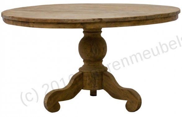 Ronde Teaktafel Oud Hout.Teak Tafel Rond 110cm Oud Hout Afbeelding 0 My Style Wonen