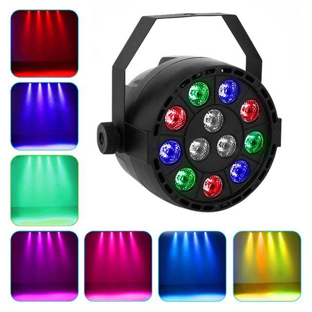 12 Diody Rgbw Mieszanie Kolorów Aktywowane Głosem światła