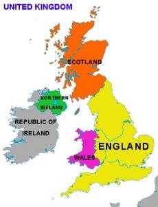 Immagini Della Cartina Della Gran Bretagna.Cartina Delle 4 Regioni Britanniche Cerca Con Google Regno Unito Britannico