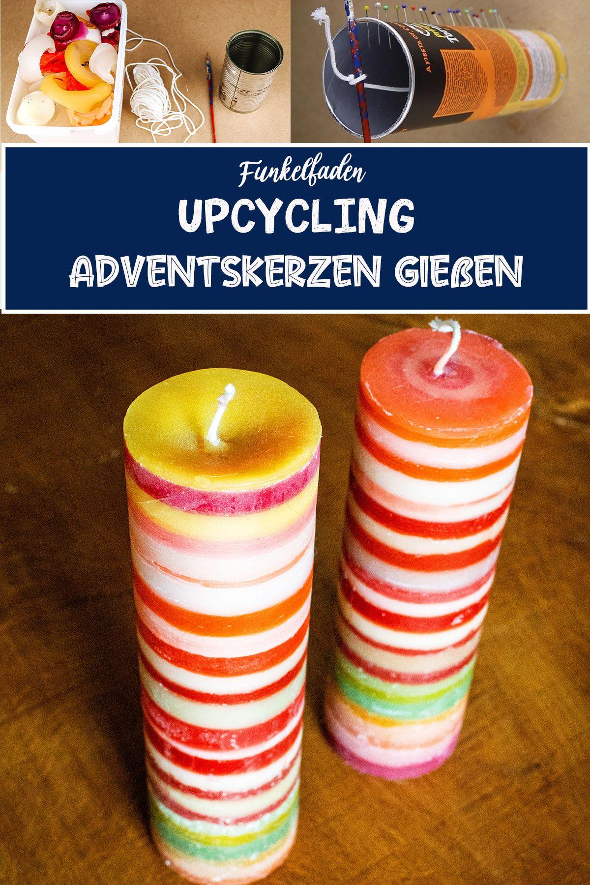 Upcycling Adventskerzen Gießen Aus Kerzenresten