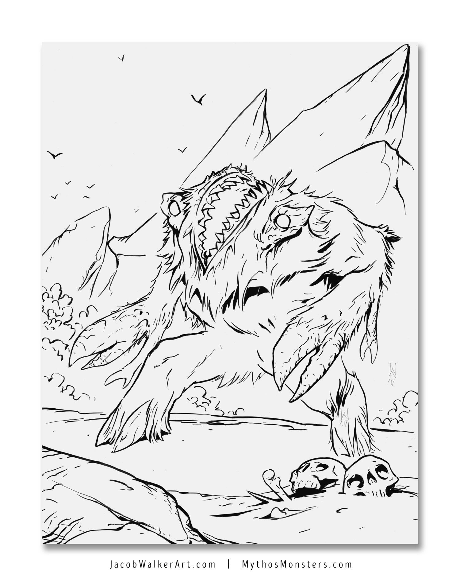 Creature Blog - Mythos Monsters. HPL\'s Gug, coloring page for ...