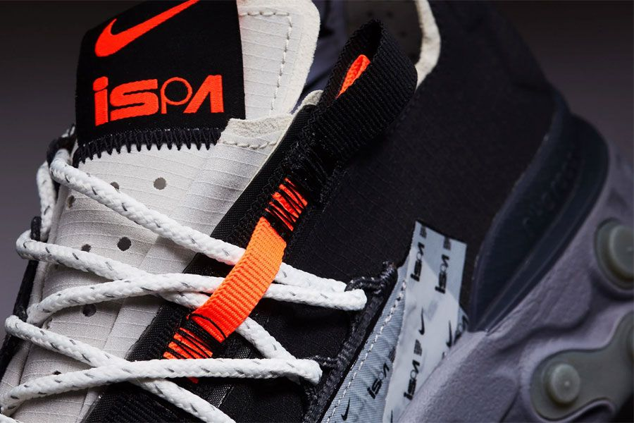 4ca4a34d5f7f50 Nike React WR ISPA Black Metallic Silver (AR8555-001) - Mood 2 ...