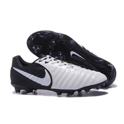 buy popular 5c331 7b498 2017 Nike Tiempo Legend VII FG Botas De Futbol Blanco Negro