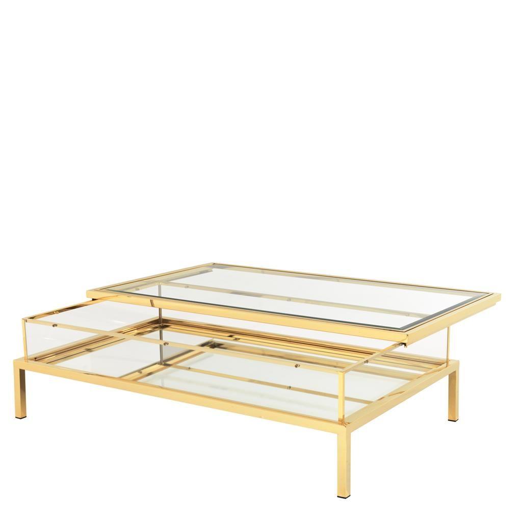 Coffee Table Harvey Rectangular Gold Coffee Table Coffee Table