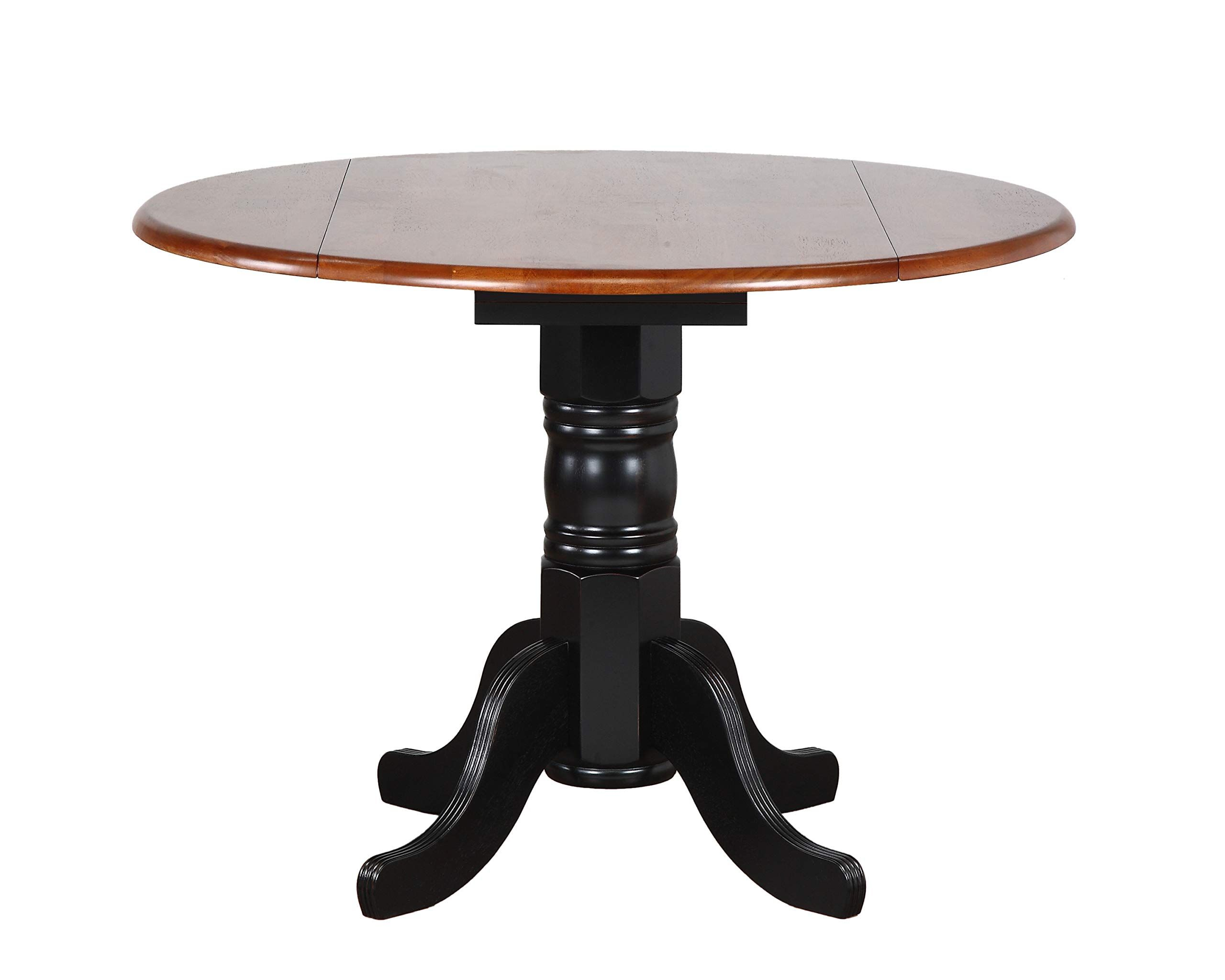 Sunset Trading Round Drop Leaf Table with Cherry Finish ...