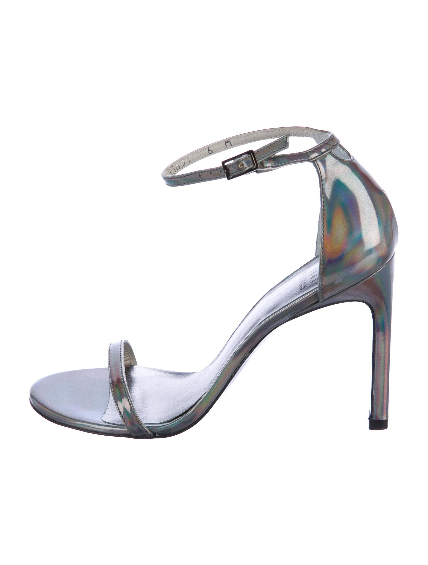 Stuart Weitzman Holographic Slingback Sandals marketable cheap price nwNXD