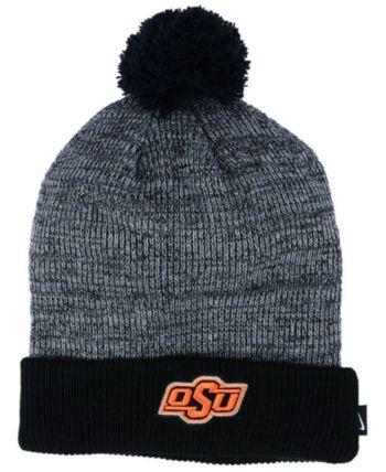 0713c28ff5138 Nike Oklahoma State Cowboys Heather Pom Knit Hat - Gray Adjustable ...