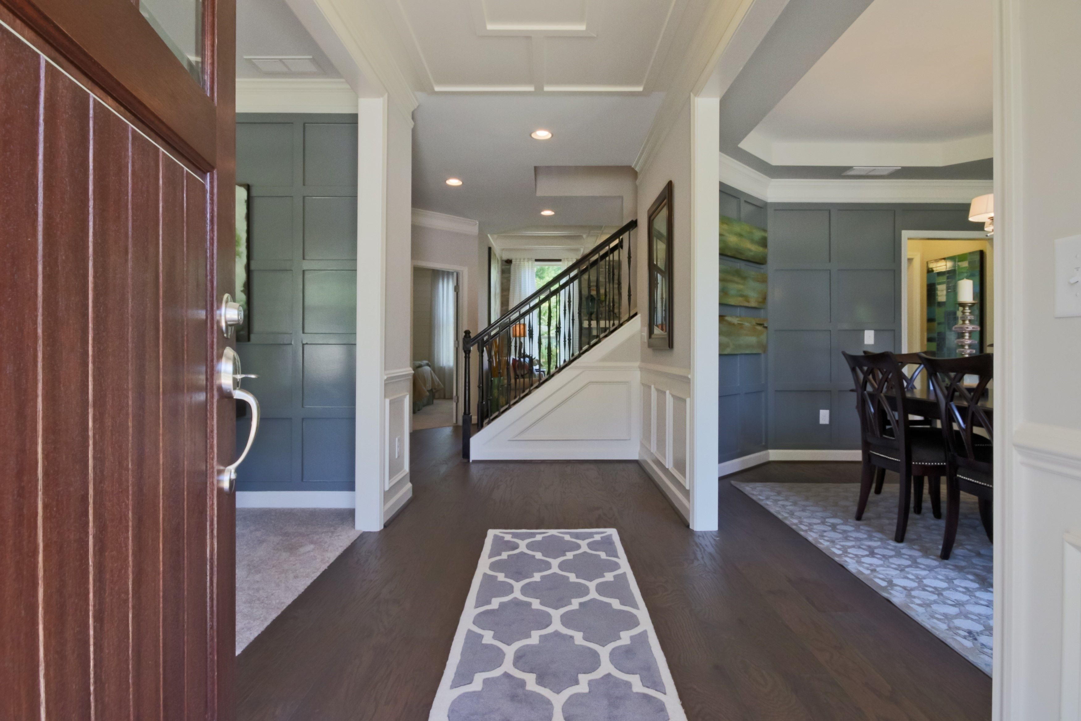 Lochshire newly decorated model home foyer also pinterest rh in