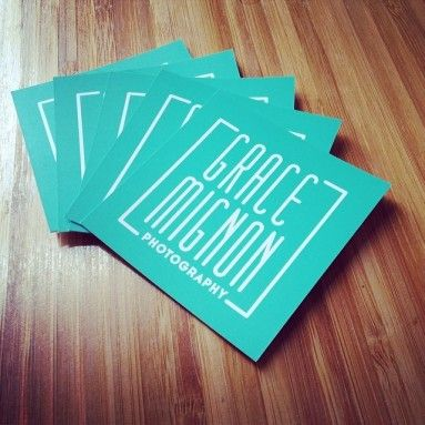 Square Business Cards and logo design for Grace Mignon Photography