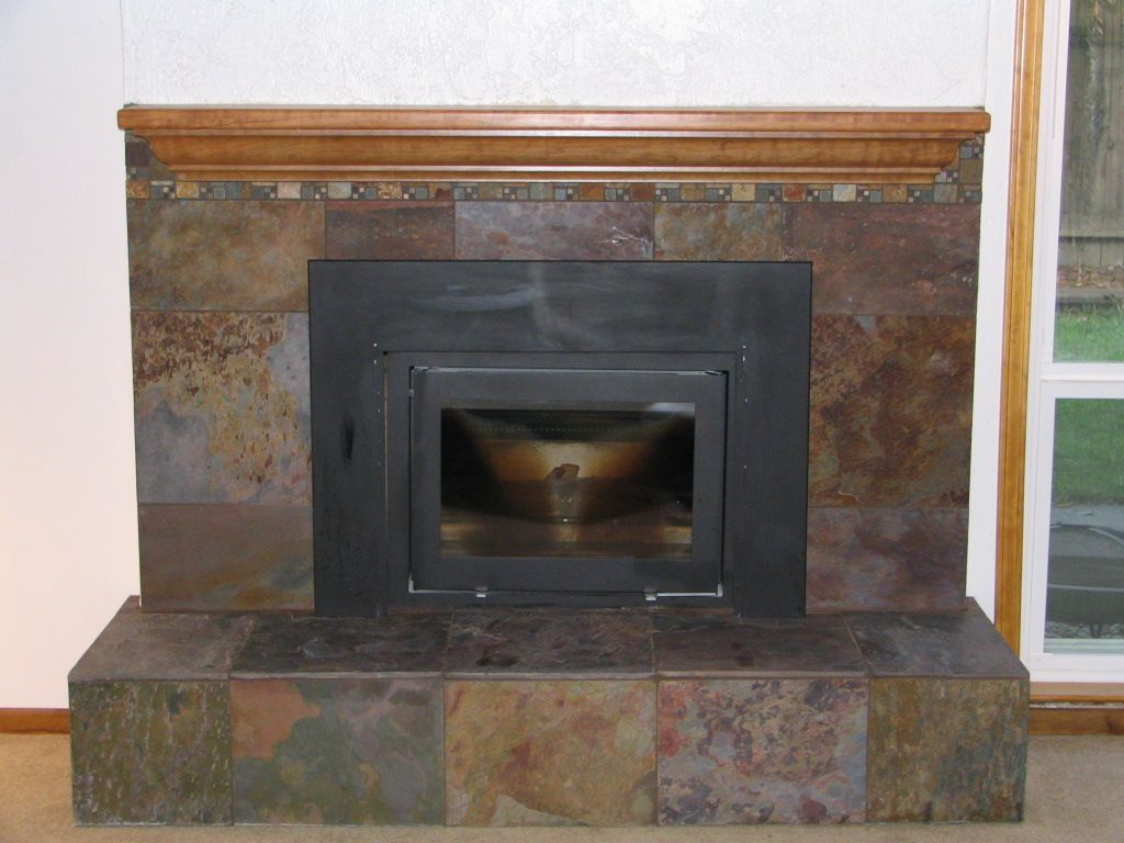 slate tile fireplace surround. slate fireplace surround pictures  Google Search Chimeneas
