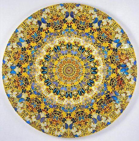 76173c1e3118 Damien Hirst Oeuvre réalisée à partir de papillon   Mandalas ...