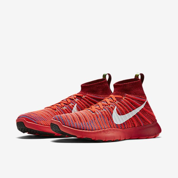 NIKE Men's 9.5 Free Train Force Flyknit Multi Color Cross Training Shoes