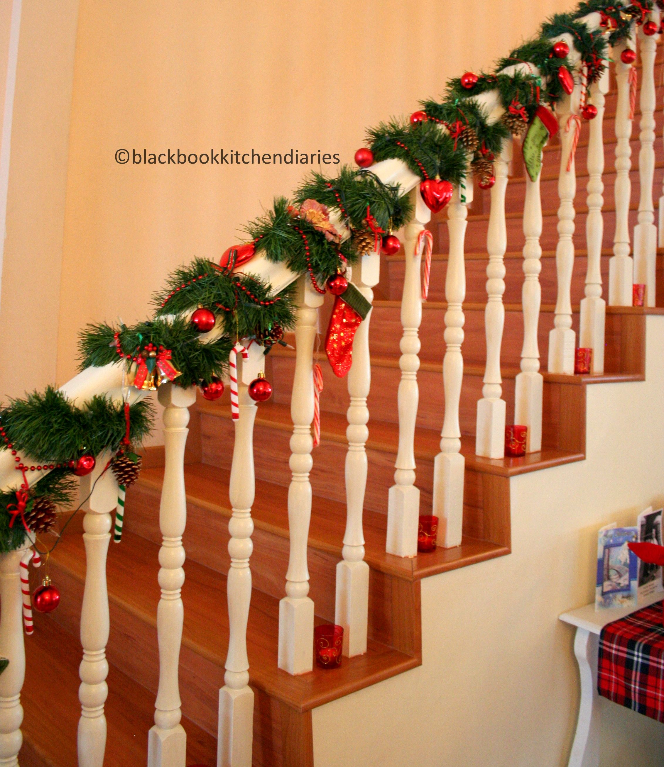 Christmas time banisters holidays and christmas time for How to decorate a banister