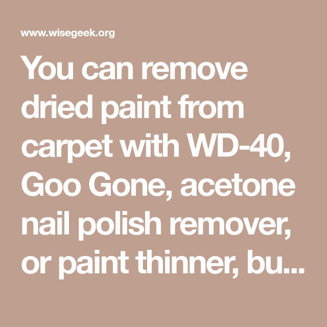 Does Nail Polish Remover Remove Paint From Carpet Hireability
