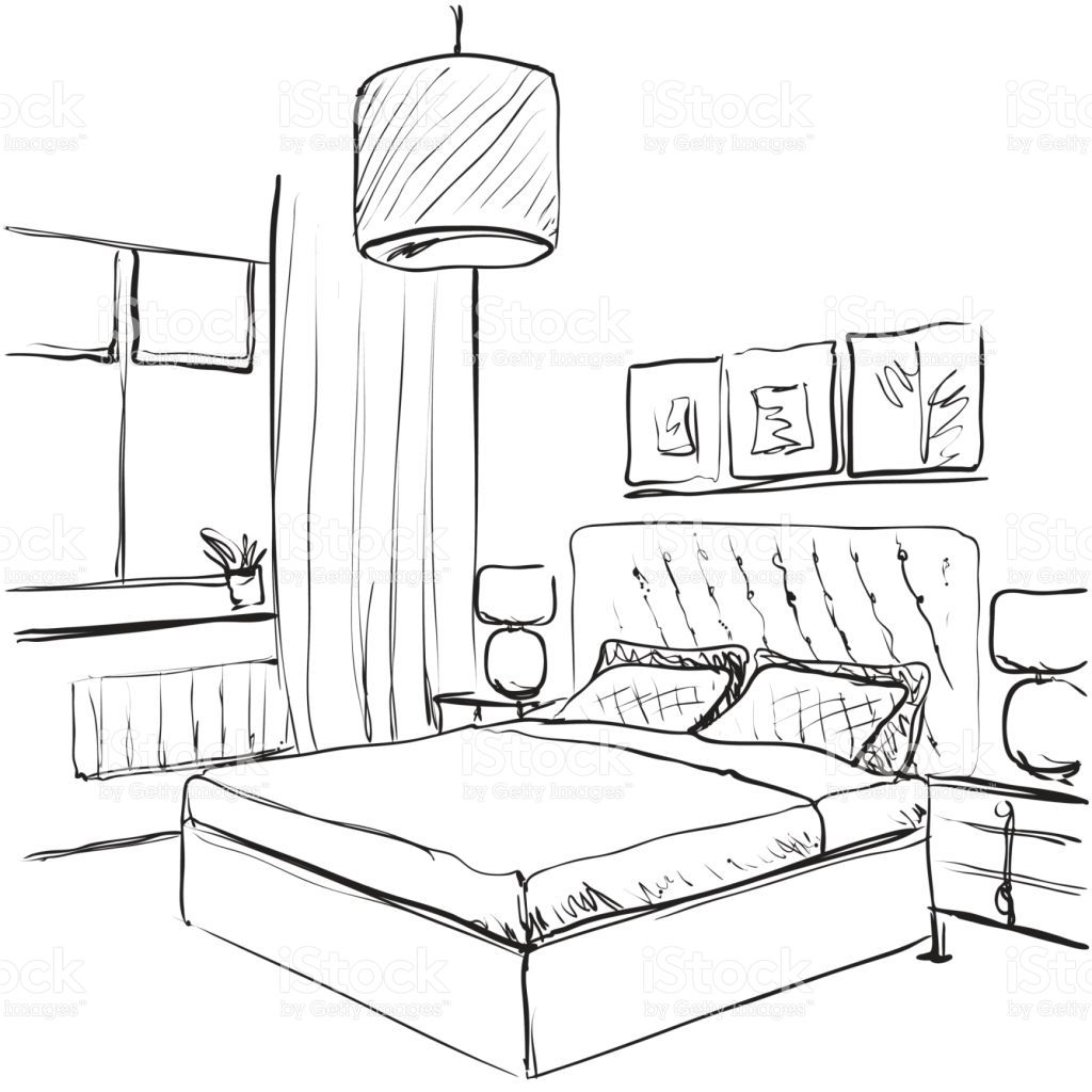 Image Result For Bedroom Drawing Bedroom Interior Bedroom