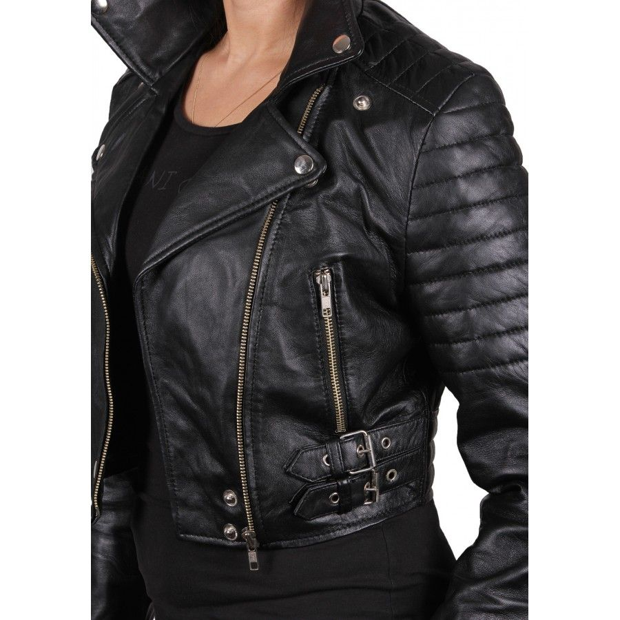 Womens leather Biker Jackets.....Leathernxg.com | Womens leather ...