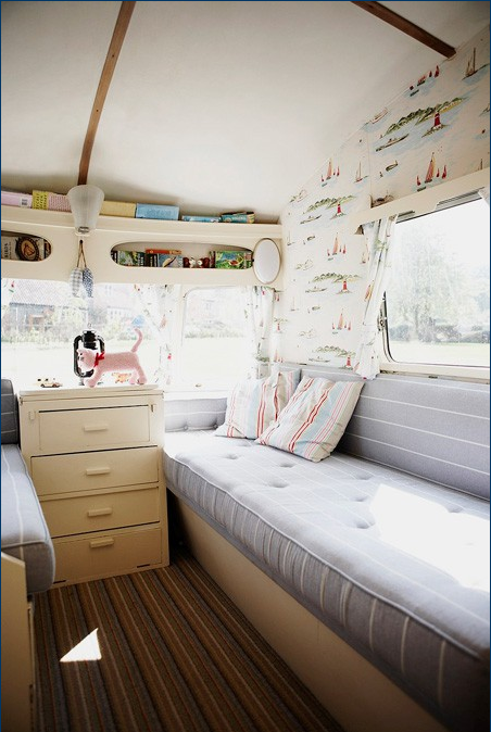 Love This Wall Covering Caravan Interior Vintage Caravans