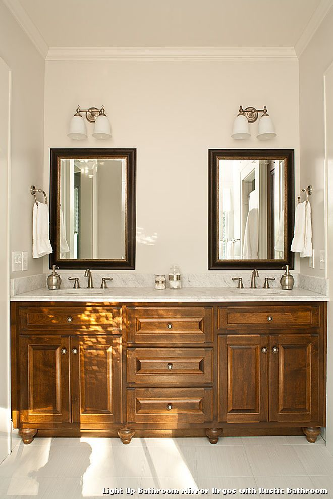 Light Up Bathroom Mirror Argos With Rustic Kitchen Lighting From