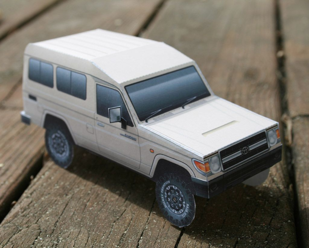 Toyota land cruiser troopcarrier vdj78r by papercruiser com